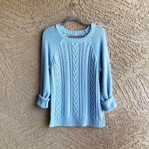 OLD NAVY Light Blue Cableknit Pullover Sweater